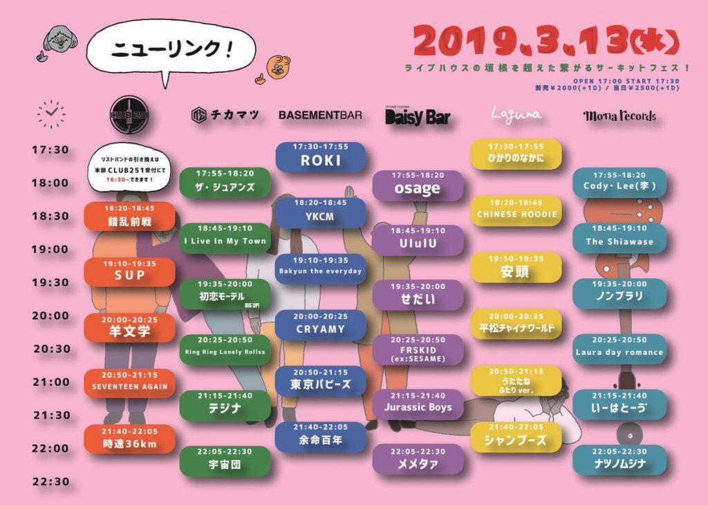 2019.3.13 NEW LINK タイムテーブル