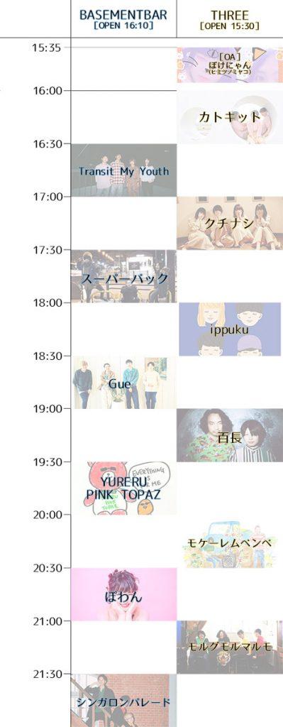 316NIGHT vol.8『お京阪ナイト~特別急行~』タイムテーブル