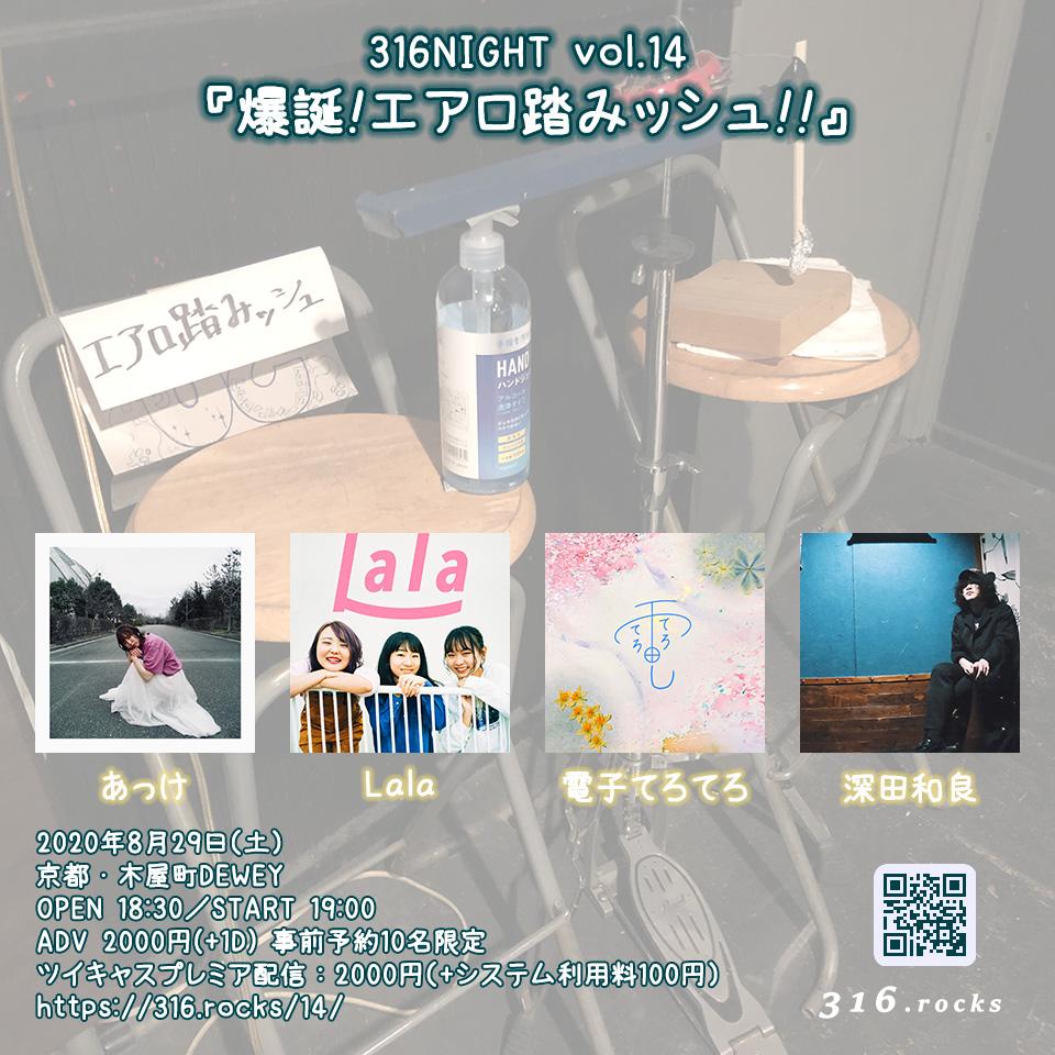316NIGHT vol.14 『爆誕!エアロ踏みッシュ』